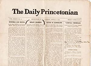 THE DAILY PRINCETONIAN, Vol. XXXIV, No 43, April 27, 1909