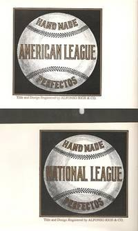HAND MADE AMERICAN LEAGUE PERFECTOS [and] HAND MADE NATIONAL LEAGUE PERFECTOS:; Cigar box labels: ...