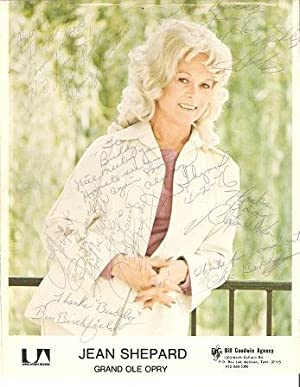 SIGNED, PROFESSIONAL COLOR PHOTOGRAPH OF JEAN SHEPARD:; American country singer, Grand Ole Opry