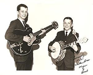SIGNED, PROFESSIONAL PHOTOGRAPH OF THE WALKER BROTHERS, WAYNE & BOB:; American country entertainers