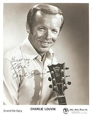SIGNED, PROFESSIONAL PHOTOGRAPH OF CHARLIE LOUVIN OF THE GRAND OLE OPRY