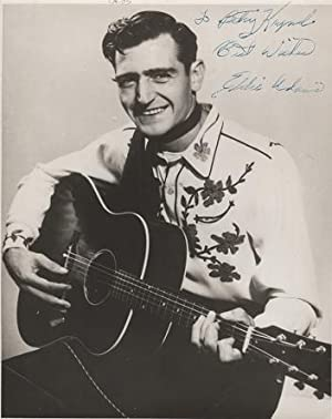 SIGNED, PROFESSIONAL PHOTOGRAPH OF EDDIE ADAMS:; Country & Western performer