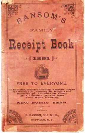 RANSOM'S FAMILY RECEIPT BOOK, 1891: Ransom, D., Son