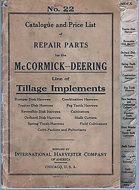 NO. 22, CATALOGUE AND PRICE LIST OF: International Harvester