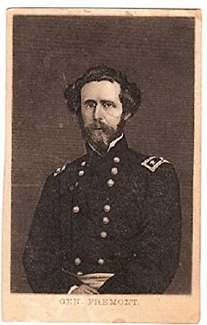 CARTE DE VISITE OF GENERAL JOHN C. FREMONT IN HIS CIVIL WAR OFFICER'S UNIFORM