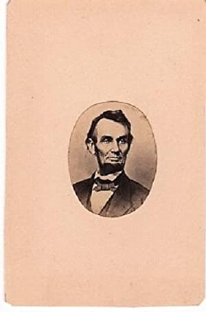 OVAL PHOTOGRAPHIC PORTRAIT OF LINCOLN