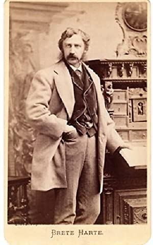 CARTE DE VISITE OF AMERICAN AUTHOR BRET HARTE, PHOTOGRAPHED BY NAPOLEON SARONY