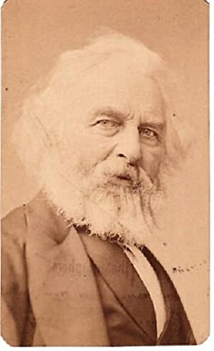 CARTE DE VISITE OF AMERICAN POET, HENRY WADSWORTH LONGFELLOW, PHOTOGRAPHED BY SARONY