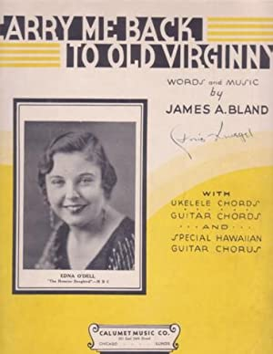 CARRY ME BACK TO OLD VIRGINNY by James A. Bland. Ukelele Chords, Guitar Chords, and Special Hawai...