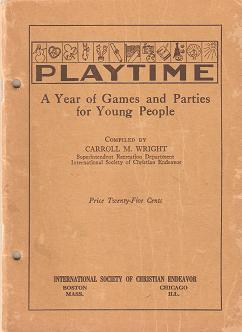 PLAYTIME:; A YEAR OF GAMES AND PARTIES FOR YOUNG PEOPLE