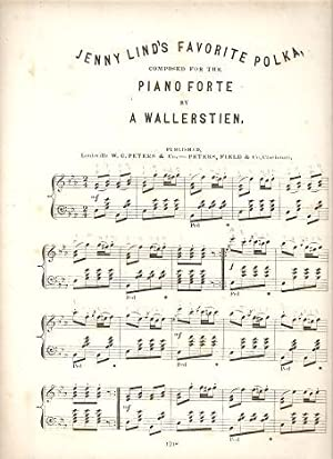 JENNY LIND'S FAVORITE POLKA: Composed for the: Jenny Lind's.sheet music