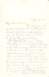 HANDWRITTEN LETTER, CA. 1850-1860, TO