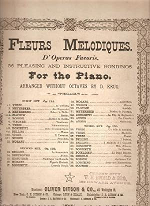 MARTHA. Fleurs Melodiques for the Piano by: Martha.sheet music