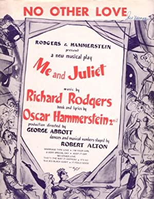 Sheet music (1) from this Broadway show.: ME AND JULIET.