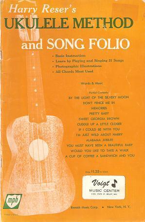 Harry Resers Ukulele Method And Song Folio Basic Instruction