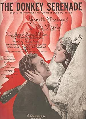 Sheet music (1) from this early Movie Musical. Song: The Donkey Serenade.; Lyric by Bob Wright &amp...