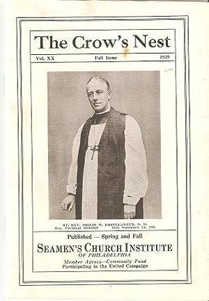 THE CROW'S NEST, Vol. XX, Fall Issue, 1939: Seamen's Friend Society
