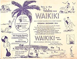THIS IS THE FABULOUS NEW WAIKIKI -: Florida, Miami Beach