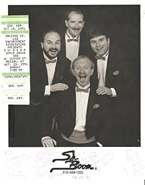 SIGNED, PROFESSIONAL PHOTOGRAPH OF THE VOCAL QUARTET WITHIN THE ROCK N ROLL BAND, SH-BOOM: with t...