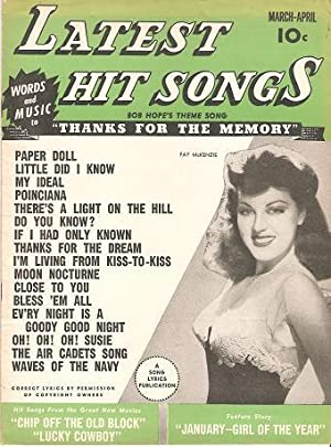 LATEST HIT SONGS, Vol. 1, No. 8,: Engel, Lyle K.,