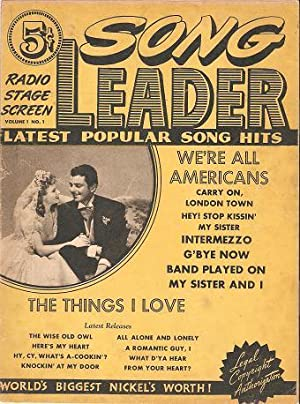 SONG LEADER, Volume 1, No. 1: Radio,: Davis, Richard, editor