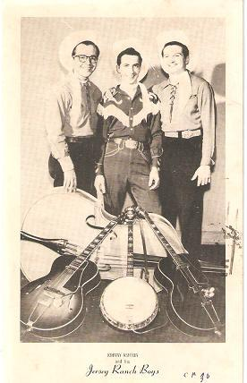 PHOTOGRAPHIC (real-photo) POSTCARD FEATURING JOHNNY ASHTON AND HIS JERSEY RANCH BOYS: Addressed t...
