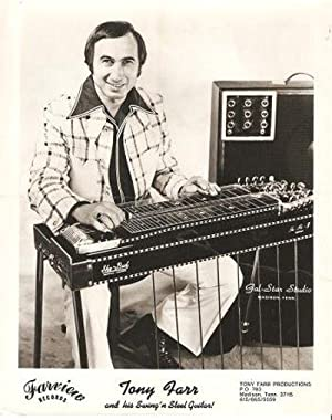 PROFESSIONAL PHOTOGRAPH OF TONY FARR AND HIS SWING'N STEEL GUITAR