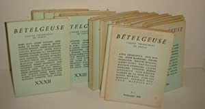 Bételgeuse, Cahiers Trimestriels de Poésie. Complet en: BETELGEUSE, MARCEL BEALU,