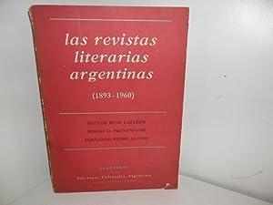 Las revistas literarias argentinas (1893-1960), por Hector: COLLECTIF, Hector René