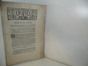 MEMOIRE, pour M. le Duc de Richelieu, Héritier substitué de M. le Cardinal de ...