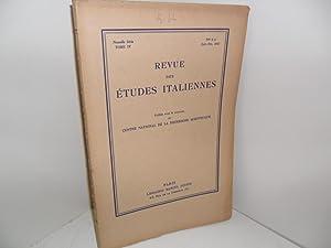 Revue des études italiennes, Tome IV, N°: REVUE DES ETUDES