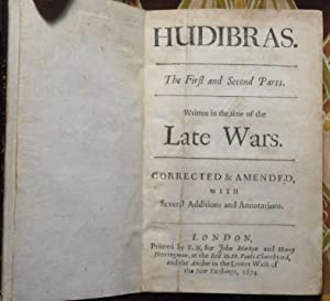 Hudibras, the First and Second Parts - Written in the time of the Late Wars - Corrected and Amend...