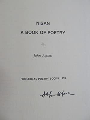 Nisan: A Book of Poetry: Asfour, John [signed]