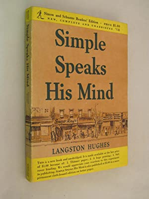 Simple Speaks His Mind: Hughes, Langston ( SIGNED )