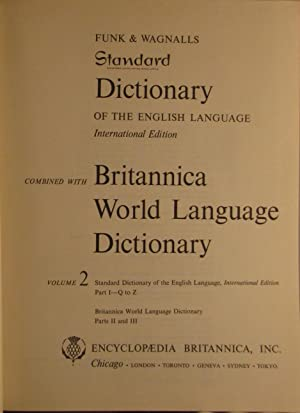 Funk & Wagnalls Standard Dictionary of the English Language International Edition Combined with...