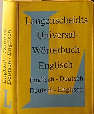 Langenscheidts Universal-Worterbuch: Englisch: Englisch-Deutsch, Deutsch-Englisch: Langenscheidt (editor)