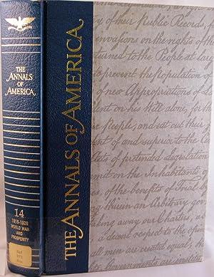 The Annals of America: 1916-1928 World War and Prosperity: Adler, Mortimer J. (editor)