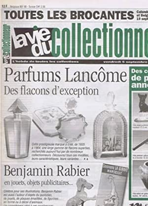 La vie du collectionneur N° 189 du 5 septembre 1997 parfums lancome des flacons d exception - 26 ...