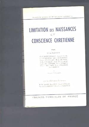 Limitation des naissances et conscience chretienne: Gabriel Madinier Paul