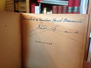 Poetes d'aujourd' Hui: Eluard, Paul [Jacob Bronowski]