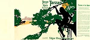 Tarzan of The Apes Facsimile Dust Jacket for A. L. Burt Co. edition (NO BOOK)