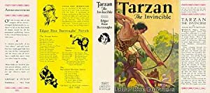 Tarzan The Invincible (facsimile dust jacket for the first Grosset & Dunlap Book edition-JACKET O...
