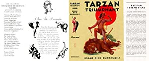 Tarzan Triumphant (facsimile Dust Jacket for the ERB 1948 Book edition-JACKET ONLY; NO BOOK)