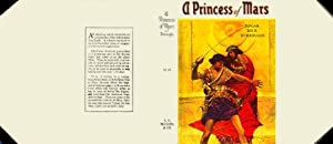 A Princess of Mars Dust Jacket (NO BOOK) Facsimile for 1st edition Book