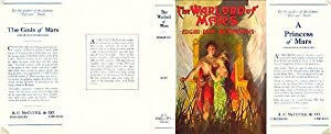 The Warlord of Mars-Facsimile Dust Jacket for first edition (JACKET ONLY-NO BOOK)