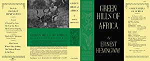 GREEN HILLS OF AFRICA (facsimile dust jacket for the first edition book: NO BOOK)