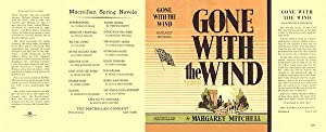 Gone With The Wind Facsimile Dust Jacket: Mitchell, Margaret