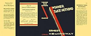 Winner Take Nothing (facsimile dust jacket for the first edition book: NO BOOK)