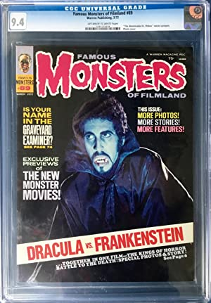 FAMOUS MONSTERS of FILMLAND No. 89 (March 1972) CGC Graded 9.4 (NM)