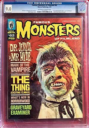 FAMOUS MONSTERS of FILMLAND No. 62 (Feb. 1970) CGC Graded 9.0 (VF/NM)